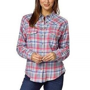 Jachs Girlfriend Bea Plaid Light Flannel Shirt L